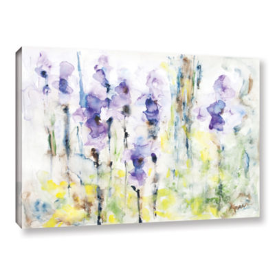 Brushstone Irises Gallery Wrapped Canvas