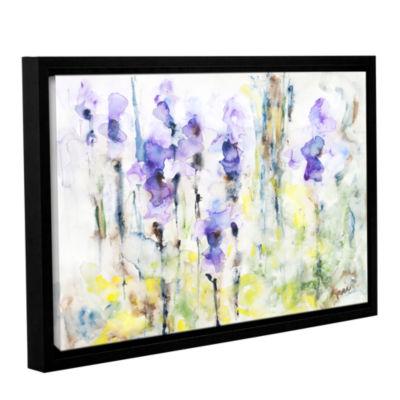 Brushstone Irises Gallery Wrapped Floater-Framed Canvas