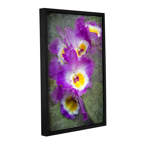 Brushstone Irises Gallery Wrapped Floater-Framed Canvas Wall Art