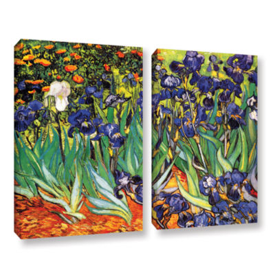 Brushstone Irises in the Garden 2-pc. Gallery Wrapped Canvas Set