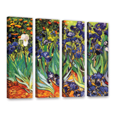 Brushstone Irises in the Garden 4-pc. Gallery Wrapped Canvas Set