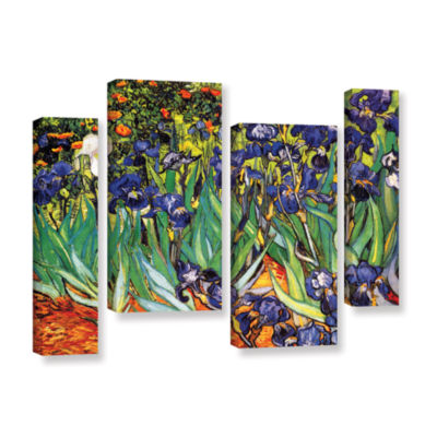 Brushstone Irises in the Garden 4-pc. Gallery Wrapped Canvas Staggered Set