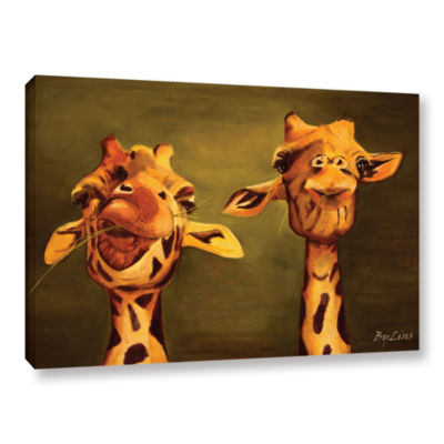 Brushstone Giraffe Buddies Gallery Wrapped Canvas