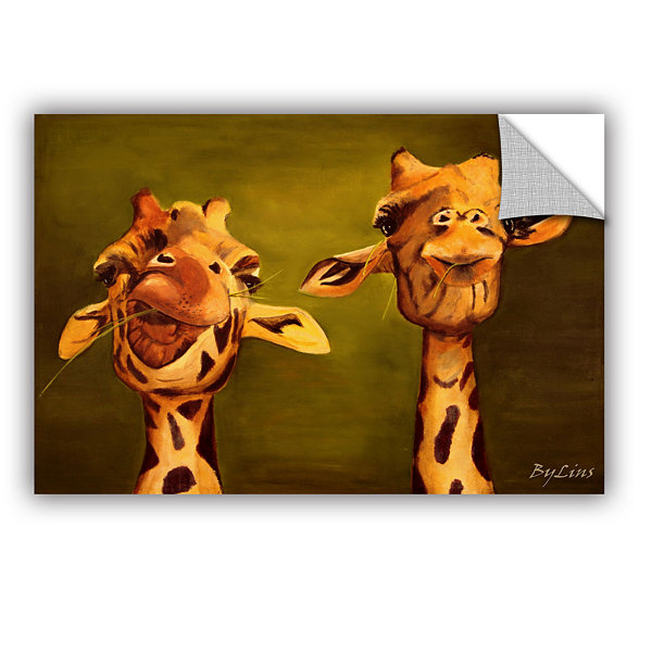 Brushstone Giraffe Buddies Removable Wall Decal
