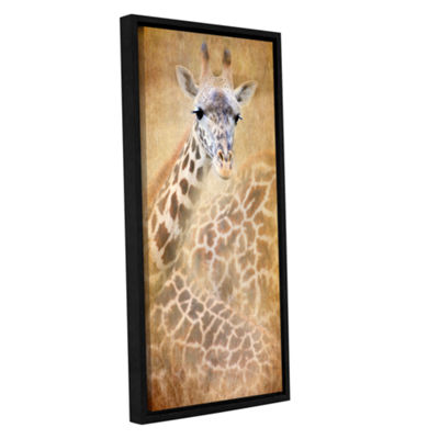Brushstone Giraffe Gallery Wrapped Floater-FramedCanvas