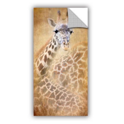 Brushstone Giraffe Removable Wall Decal