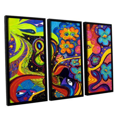 Brushstone Joyful 3-pc. Floater Framed Canvas WallArt