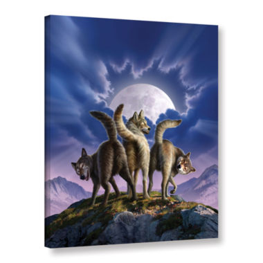 Brushstone Full Moon Gallery Wrapped Canvas