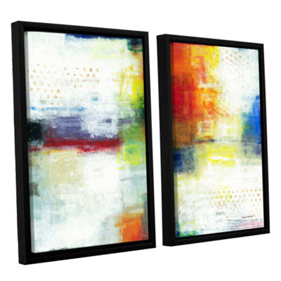 Brushstone Jubliant 2-pc. Floater Framed Canvas Wall Art