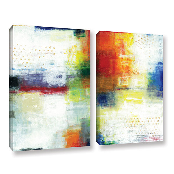 Brushstone Jubliant 2-pc. Gallery Wrapped Canvas Wall Art