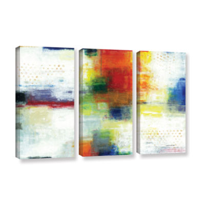 Brushstone Jubliant 3-pc. Gallery Wrapped Canvas Wall Art