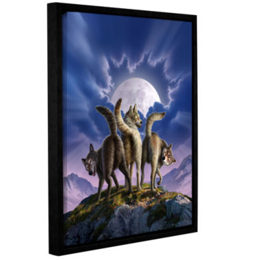Brushstone Full Moon Gallery Wrapped Floater-Framed Canvas