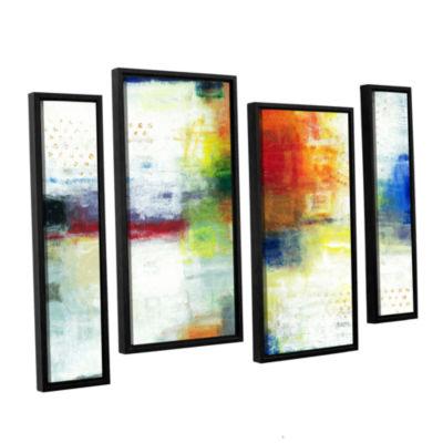 Brushstone Jubliant 4-pc. Floater Framed StaggeredCanvas Wall Art