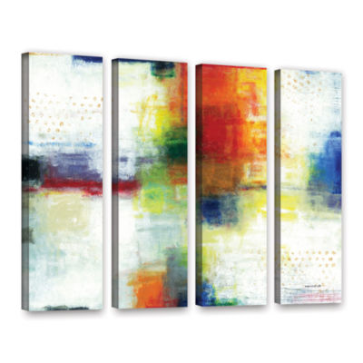 Brushstone Jubliant 4-pc. Gallery Wrapped Canvas Wall Art