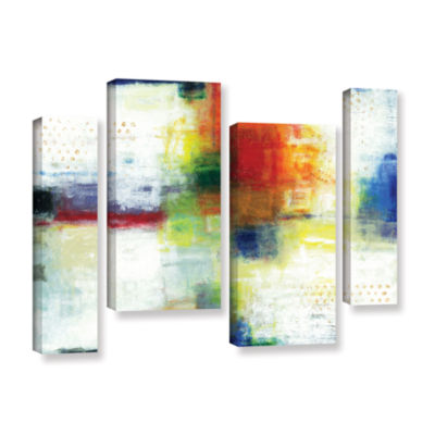 Brushstone Jubliant 4-pc. Gallery Wrapped Staggered Canvas Wall Art