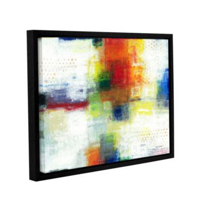 Brushstone Jubliant Gallery Wrapped Floater-FramedCanvas Wall Art