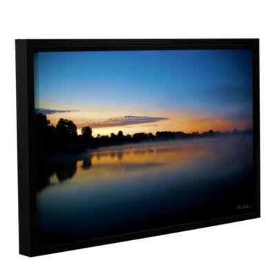 Brushstone July Sunrise Gallery Wrapped Floater-Framed Canvas Wall Art