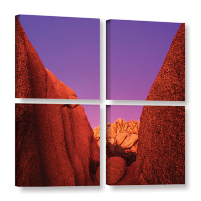 Brushstone Jumbo Rocks Afterglow 4-pc. Square Gallery Wrapped Canvas Wall Art