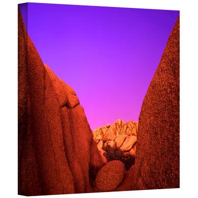 Brushstone Jumbo Rocks Afterglow Gallery Wrapped Canvas Wall Art