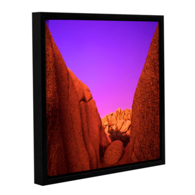 Brushstone Jumbo Rocks Afterglow Gallery Wrapped Floater-Framed Canvas Wall Art