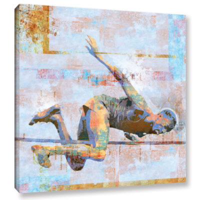 Brushstone Jump Gallery Wrapped Canvas Wall Art