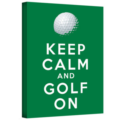 Brushstone Keep Calm And Golf On Gallery Wrapped Canvas Wall Art
