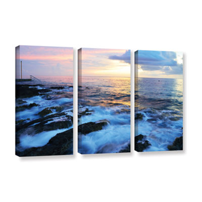 Brushstone Paraiso Reef 3-pc. Gallery Wrapped Canvas Wall Art