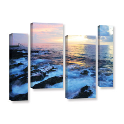Brushstone Paraiso Reef 4-pc. Gallery Wrapped Staggered Canvas Wall Art