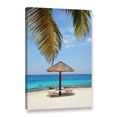 Brushstone Private Palapa Gallery Wrapped Canvas Wall Art