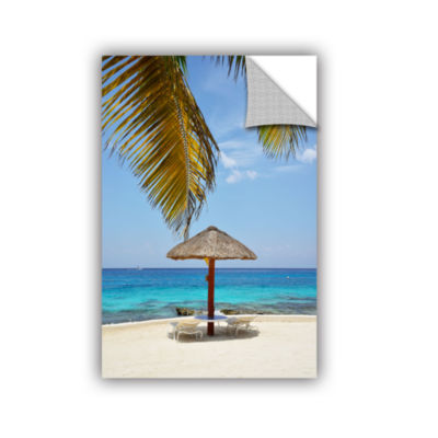 Brushstone Private Palapa Removable Wall Decal