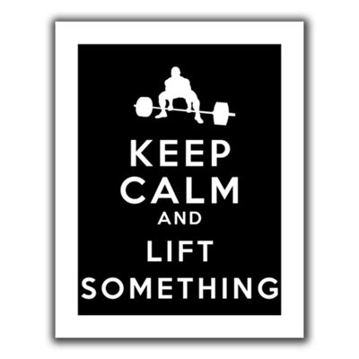 Brushstone Keep Calm And Lift Something Canvas Wall Art