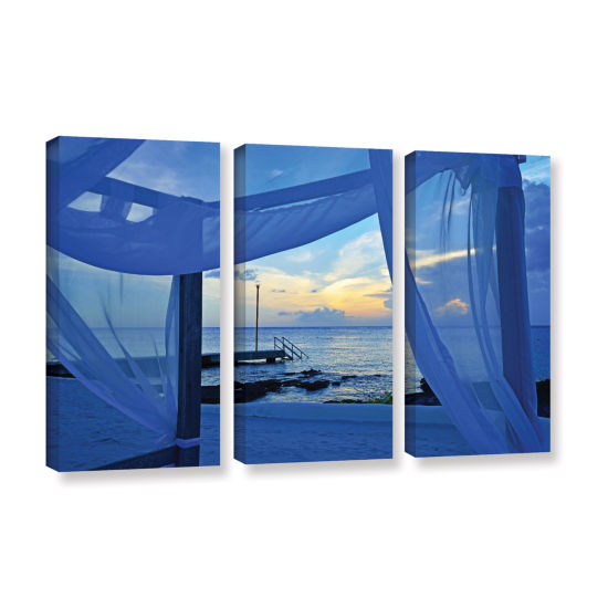 Brushstone Sunset Sea View 3-pc. Gallery Wrapped Canvas Wall Art