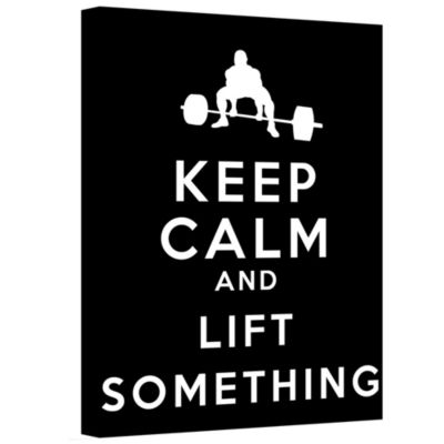 Brushstone Keep Calm And Lift Something Gallery Wrapped Canvas Wall Art
