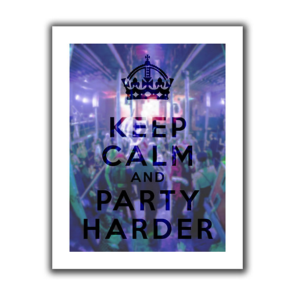 Brushstone Keep Calm And Party Harder Canvas WallArt