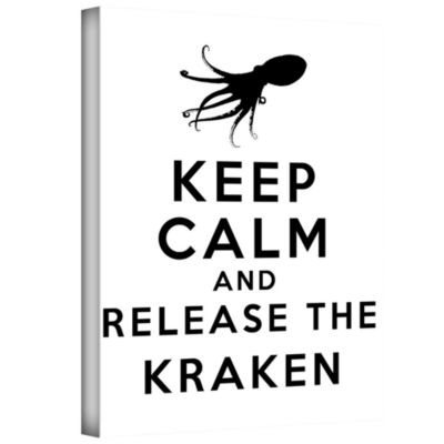 Brushstone Keep Calm And Release The Kraken Gallery Wrapped Canvas Wall Art