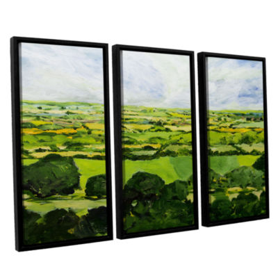 Brushstone Kensworth 3-pc. Floater Framed Canvas Wall Art