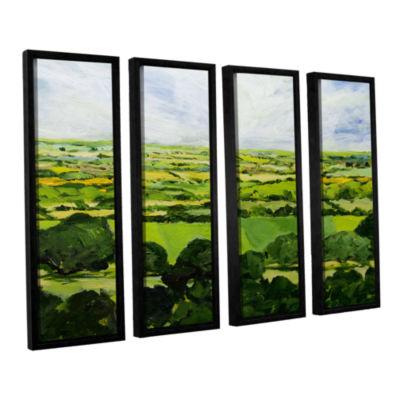 Brushstone Kensworth 4-pc. Floater Framed Canvas Wall Art