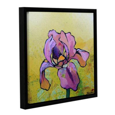 Brushstone Iris I Gallery Wrapped Floater-Framed Canvas
