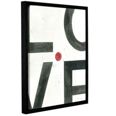 Brushstone Is This Love? Gallery Wrapped Floater-Framed Canvas
