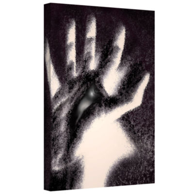Brushstone Hand Of Healing Gallery Wrapped CanvasWall Art