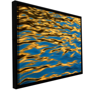 Brushstone Rogue River Ripples Gallery Wrapped Floater-Framed Canvas Wall Art