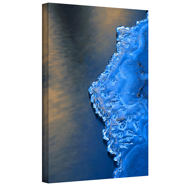 Brushstone Ice On The Merced Yosemite Gallery Wrapped Canvas Wall Art