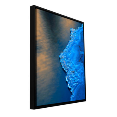 Brushstone Ice On The Merced Yosemite Gallery Wrapped Floater-Framed Canvas Wall Art