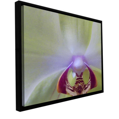 Brushstone Impression Of Orchid Gallery Wrapped Floater-Framed Canvas Wall Art