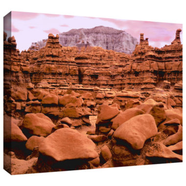 Brushstone Goblin Valley Dusk Gallery Wrapped Canvas Wall Art