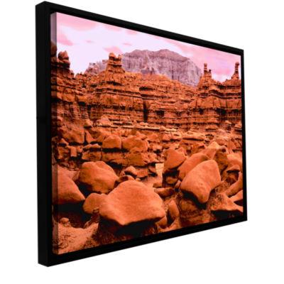 Brushstone Goblin Valley Dusk Gallery Wrapped Floater-Framed Canvas Wall Art