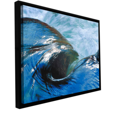 Brushstone Kern River Flow Gallery Wrapped Floater-Framed Canvas Wall Art