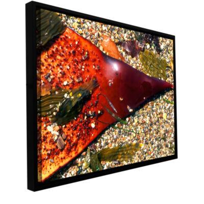 Brushstone Kelp Detail Gallery Wrapped Floater-Framed Canvas Wall Art