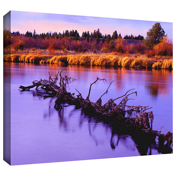 Brushstone Madison River Sunset Gallery Wrapped Canvas Wall Art