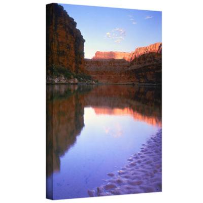 Brushstone Marble Canyon Sun Rise Gallery WrappedCanvas Wall Art